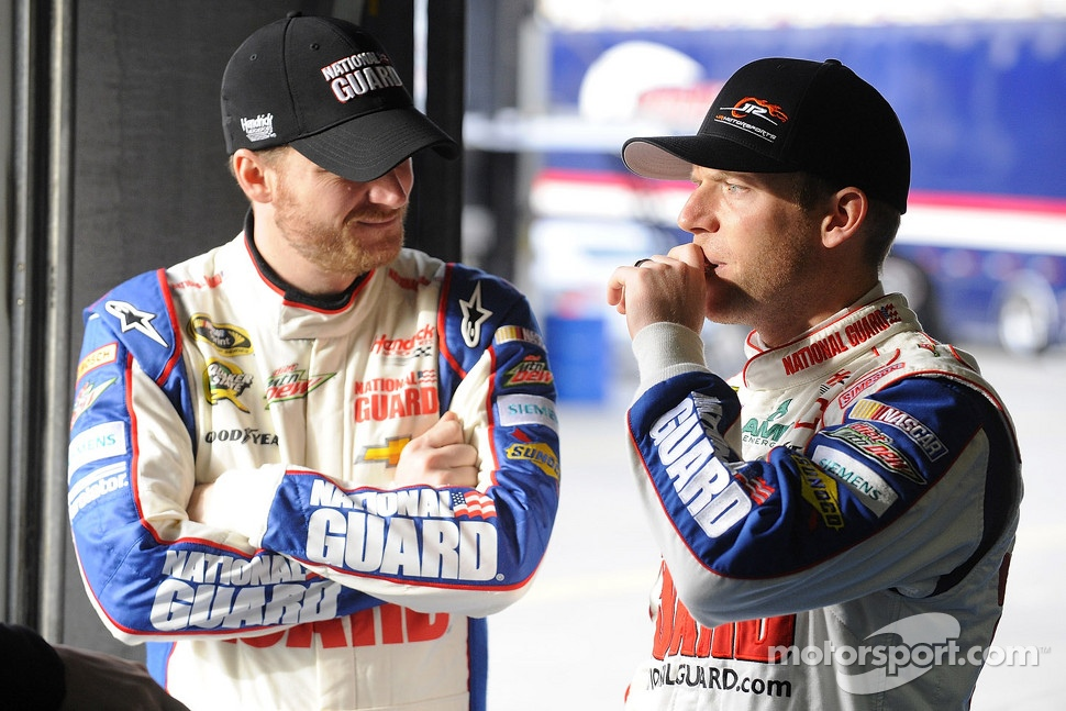 Dale Earnhardt Jr. and Regan Smith, Hendrick Motorsports Chevrolet