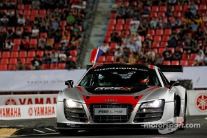 Romain Grosjean racing an Audi R8