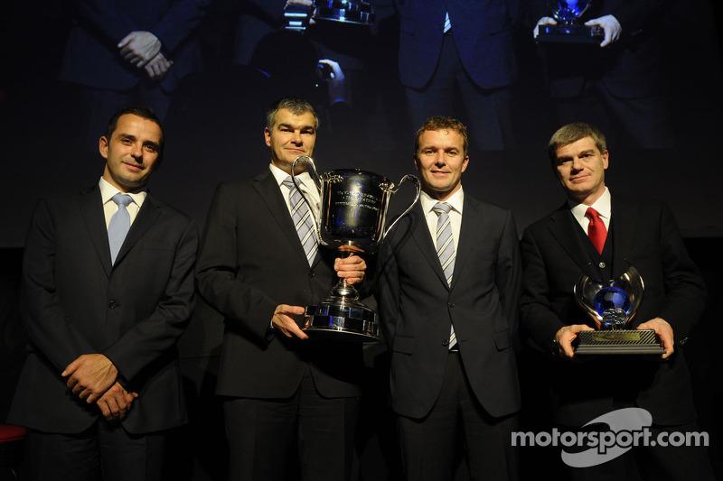 Champions Marcel Fässler and Benoit Tréluyer, Audi Sport