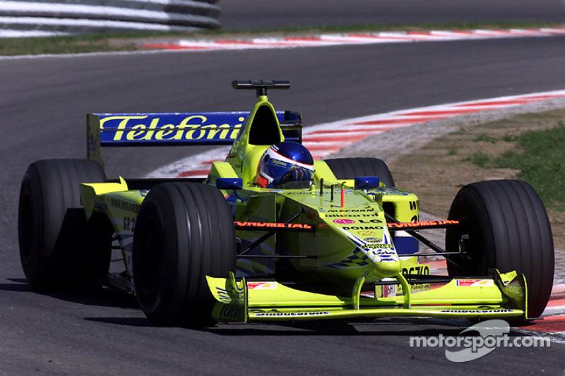 Gaston Mazzacane en el GP de Bélgica de 2000 con Minardi.