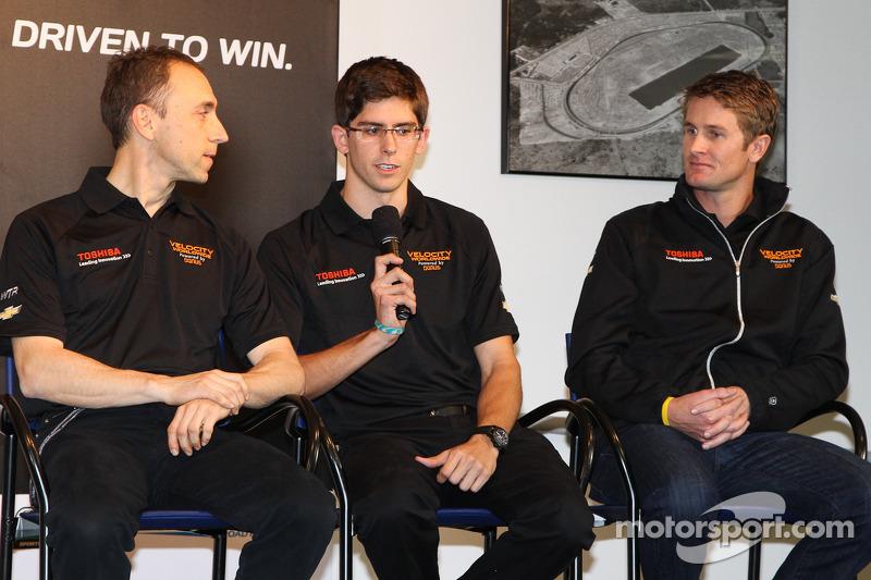 Wayne Taylor Racing drivers Max Angelelli, Jordan Taylor and Ryan Hunter-Reay