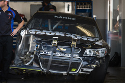 Wrecked car of Kasey Kahne, Hendrick Motorsports Chevrolet