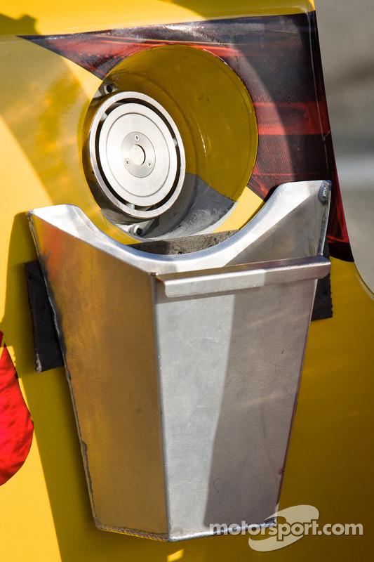 Mini catch can on the car of Kyle Busch, Joe Gibbs Racing Toyota