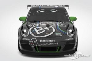The #45 B+ Racing Porsche GT3