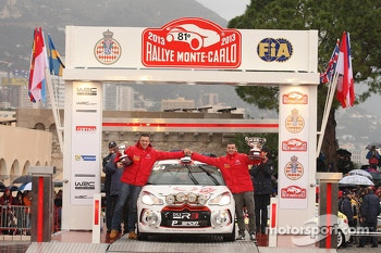 Podium: R3 winners Andrea Crugnola and Michele Ferrara, Citron DS3 R3