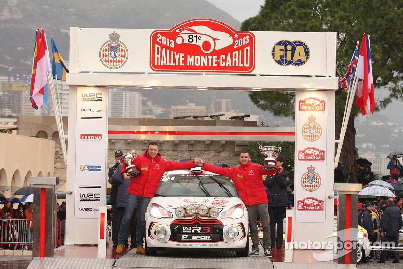 Podium: R3 winners Andrea Crugnola and Michele Ferrara, Citroën DS3 R3