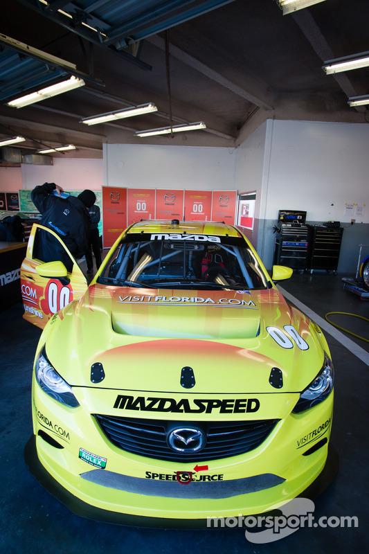 #00 Visit Florida Racing Speedsource Yellow Dragon Mazda6 GX