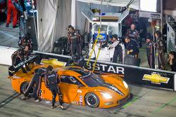 Pit stop for #3 8 Star Motorsports Corvette DP: Anthony Davidson, Pedro Lamy, Nicolas Minassian, Enzo Potolicchio, Stéphane Sarrazin