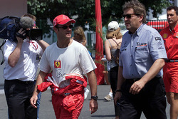 Rubens Barrichello and Norbert Haug, head of Mercedes-Benz Motorsport