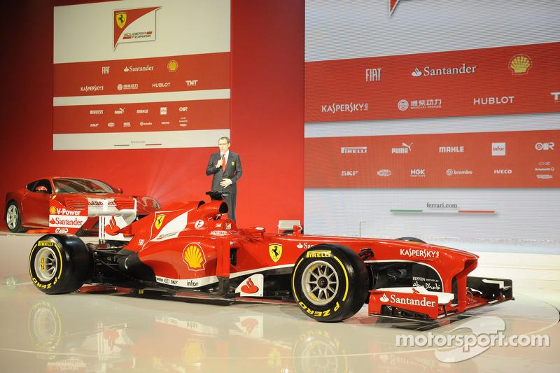 Stefano Domenicali with the Ferrari F138