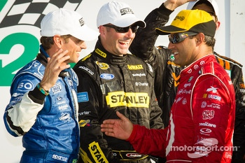 DP podium: Oswaldo Negri, Marcos Ambrose and Juan Pablo Montoya