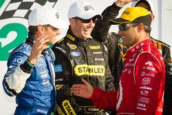 DP podium: Oswaldo Negri, Marcos Ambrose and Juan Pablo Montoya