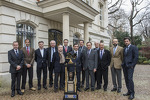 Dignitaries with the 24 Hours of Le Mans trophy