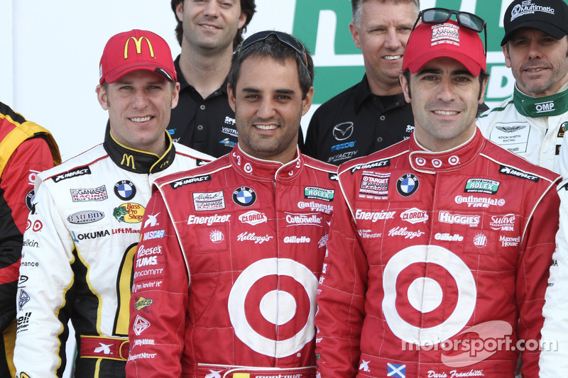 Jamie McMurray, Juan Pablo Montoya and Dario Franchitti