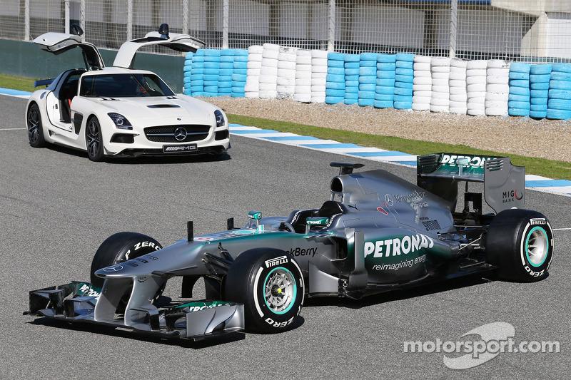The new Mercedes AMG F1 W04