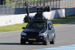 A camera tracking car