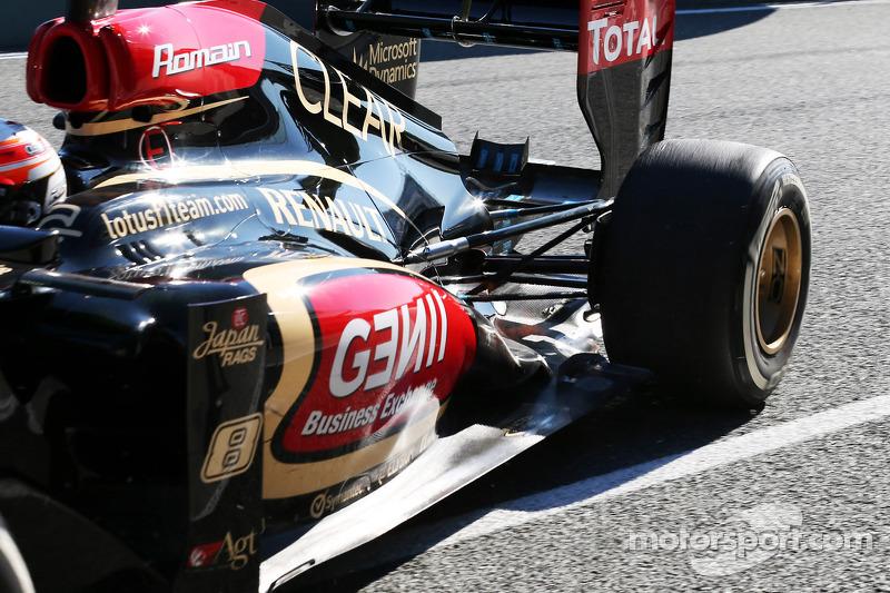 Romain Grosjean, Lotus F1 E21 rear suspension