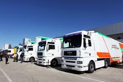 Sahara Force India F1 Team trucks
