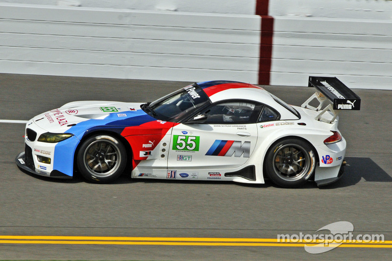 The 2013 BMW Z4 GTE does a few demonstration laps
