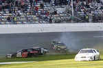 Justin Boston, Darrell Wallace Jr., Drew Charlson, Brett Hudson, Spencer Gallagher crash