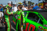 Danica Patrick, Stewart-Haas Racing Chevrolet with crew chief Tony Gibson