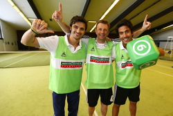 Marco Bonanomi, Allan McNish and Filipe Albuquerque