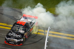 NASCAR-TRUCK: Race winner Johnny Sauter celebrates