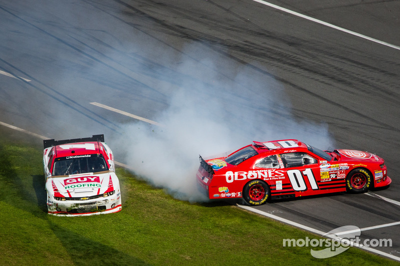 Mike Wallace and Kurt Busch crash