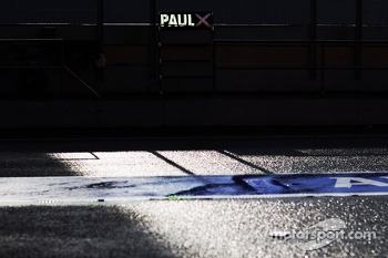 Pit board sign for Paul di Resta, Sahara Force India F1