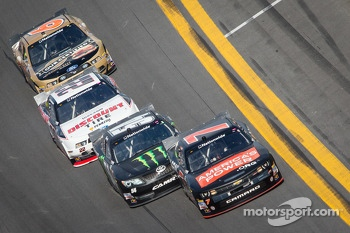 Regan Smith, Kyle Busch, Brad Keselowski and Trevor Bayne