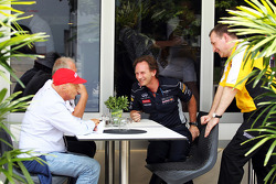 Niki Lauda, Mercedes Non-Executive Chairman and Christian Horner, Red Bull Racing Team Principal