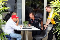 Niki Lauda, Mercedes Non-Executive Chairman and Christian Horner, Red Bull Racing Team Principal