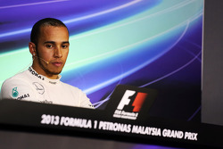 Third placed Lewis Hamilton, Mercedes AMG F1 in the FIA Press Conference