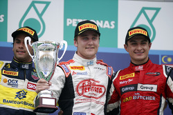 Podium: race winner Stefano Coletti, second place Felipe Nasr, third place Mitch Evans