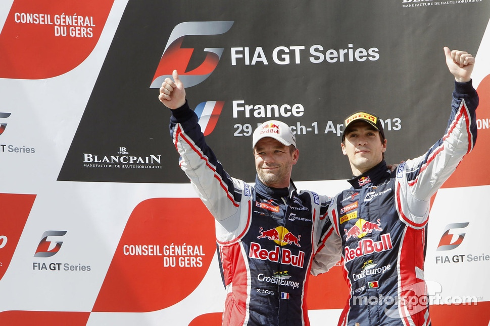 Podium: race winners Sébastien Loeb and Alvaro Parente