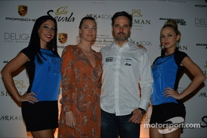 Yvan Muller, Chevrolet Cruze 1.6T, RML and his girlfriend Justine Monnier