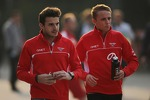 Jules Bianchi, Marussia F1 Team with team mate Max Chilton, Marussia F1 Team