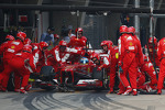 Fernando Alonso, Ferrari F138 makes a pit stop