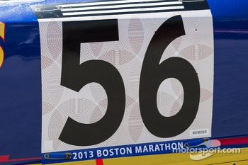 Mark Martin, Joe Gibbs Racing Toyota honors those killed in the Boston Marathon bombing
