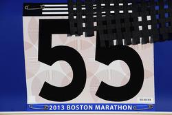 Mark Martin, Michael Waltrip Racing Toyota honors those killed in the Boston Marathon bombing