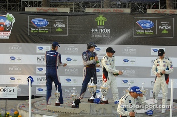 GT podium: winners Bill Auberlen, Maxime Martin, second place Dirk Mller, Joey Hand, third place Marc Goossens, Dominik Farnbacher