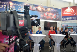 Press conference in Bratislava, James Thompson Lada Granta, LADA Sport Lukoil