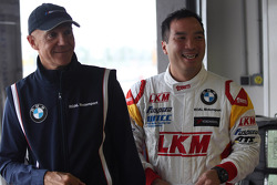 Darryl O'Young, BMW E90 320 TC, ROAL Motorsport  and Aldo Preo, Team owner, ROAL Motorsport