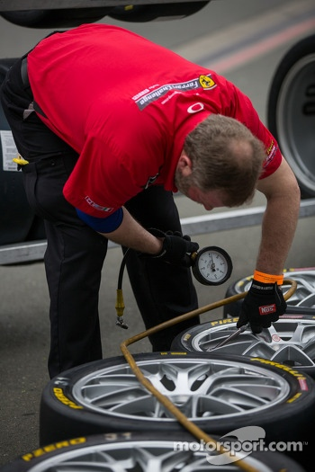 Tire prep Saturday morning