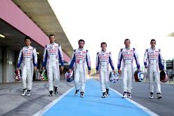 Toyota drivers Anthony Davidson, Sebastien Buemi, Stéphane Sarrazin, Alexander Wurz, Nicolas Lapierre, Kazuki Nakajima