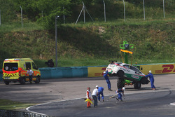 Crash, Gabriele Tarquini, Honda Civic, Honda Racing Team J.A.S.