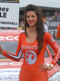 RCIB Insurance Racing Drive cool Grid girl