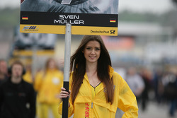 Grid girl of Sven Muller