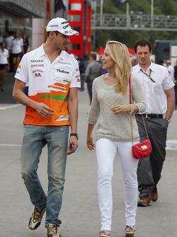 Adrian Sutil, Sahara Force India F1 with his girlfriend Jennifer Becks