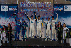 GT class podium: winners: Antonio Garcia and Jan Magnussen, second place Wolf Henzler and Bryan Sellers, third place Dirk Müller and John Edwards